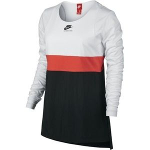 Nike White International Women' Long Sleeve Top S